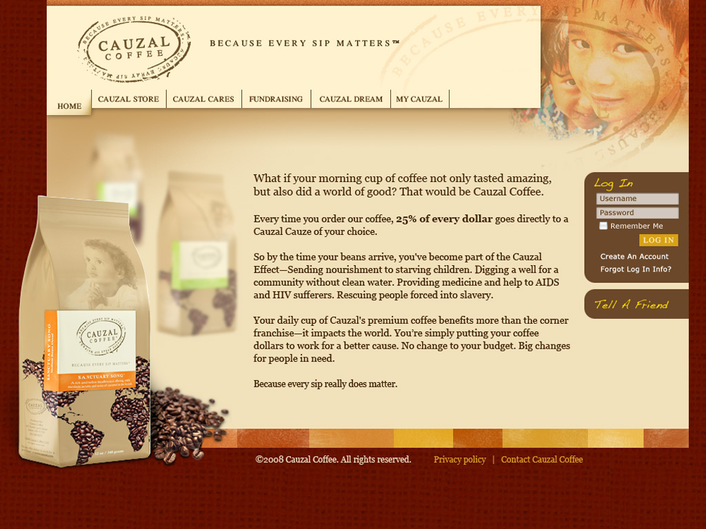 Cauzal Coffee Website