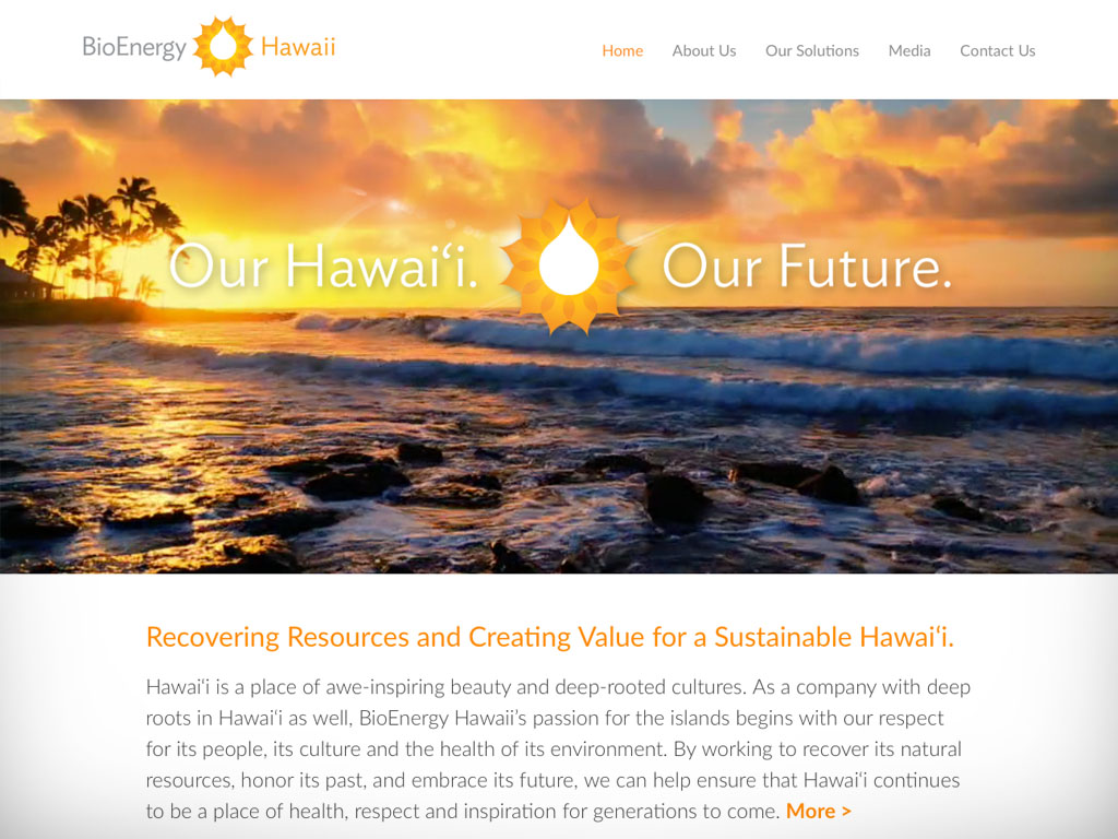 BioEnergy Hawaii Website Design