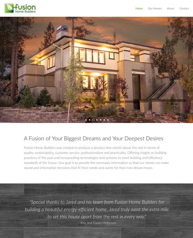 Fusion Home Builders Website