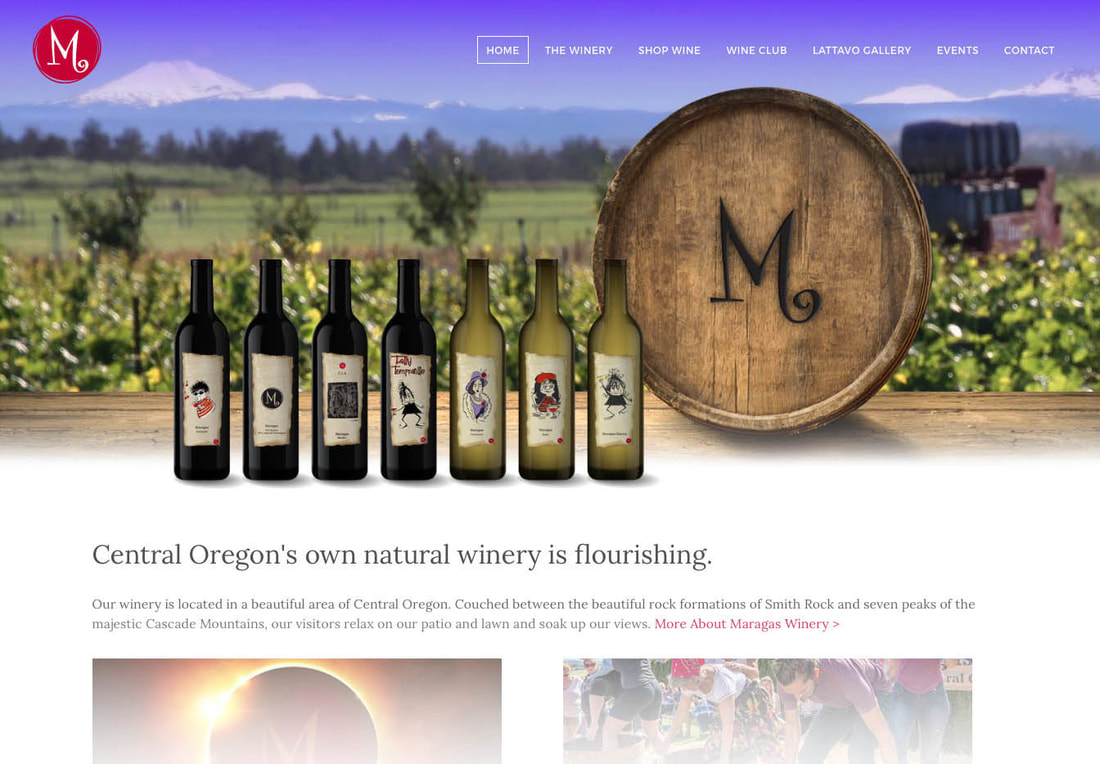 Maragas Winery website design
