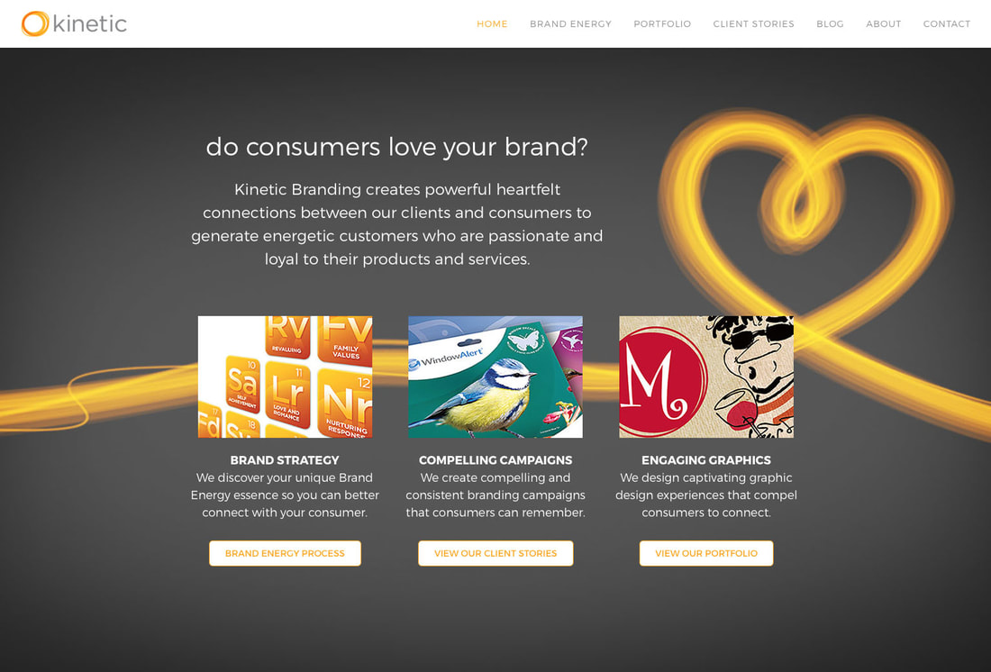 Kinetic Branding home page banner