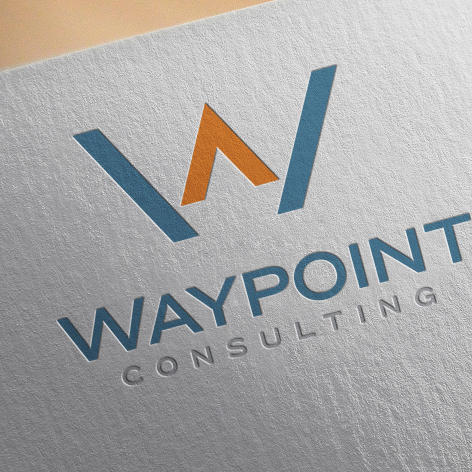 Waypoint logo design on letterhead