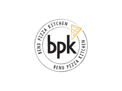 Bend Pizza Kitchen logo design