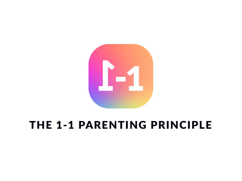 The 1-1 Parenting Principle logo