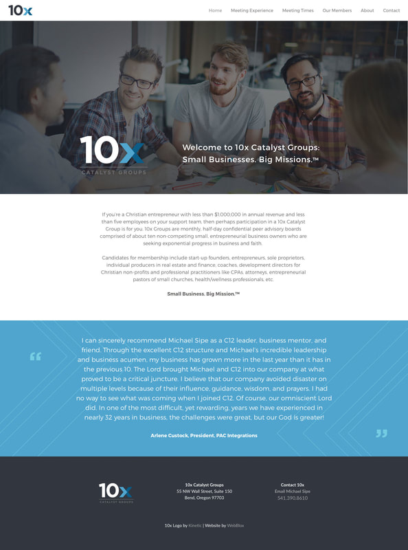 10x Catalyst Groups website design