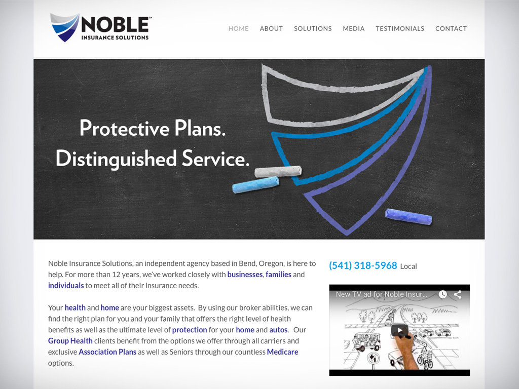 Noble Insurance Website