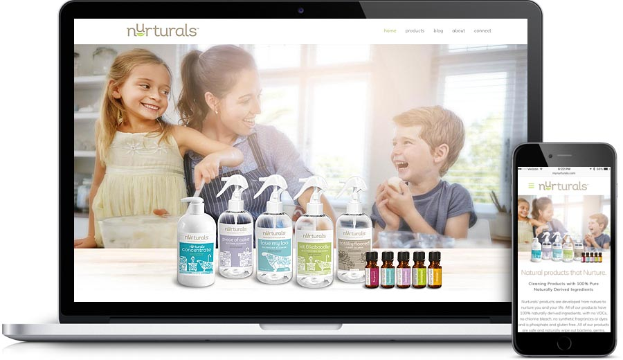 Nurturals Website Design