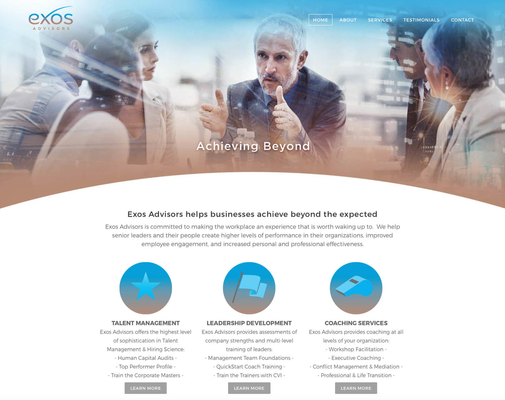 Exos Advisors Website Design
