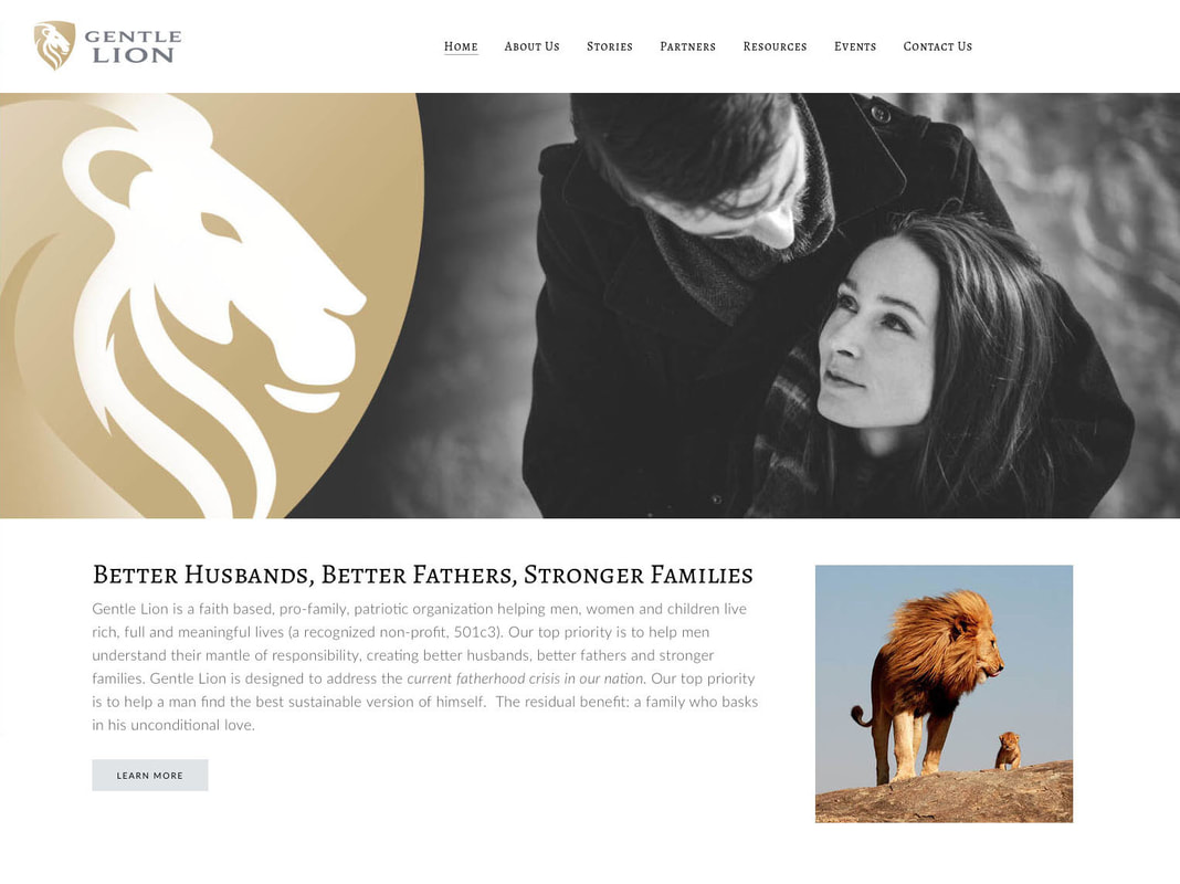 Gentle Lion Website Design