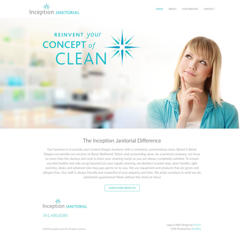 Inception Janitorial Website Design