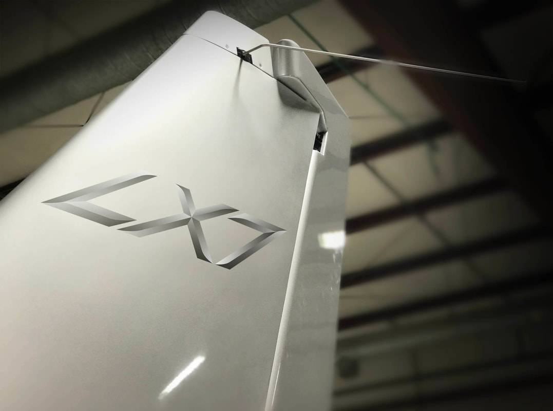 LX7 Logo on Tail Wing