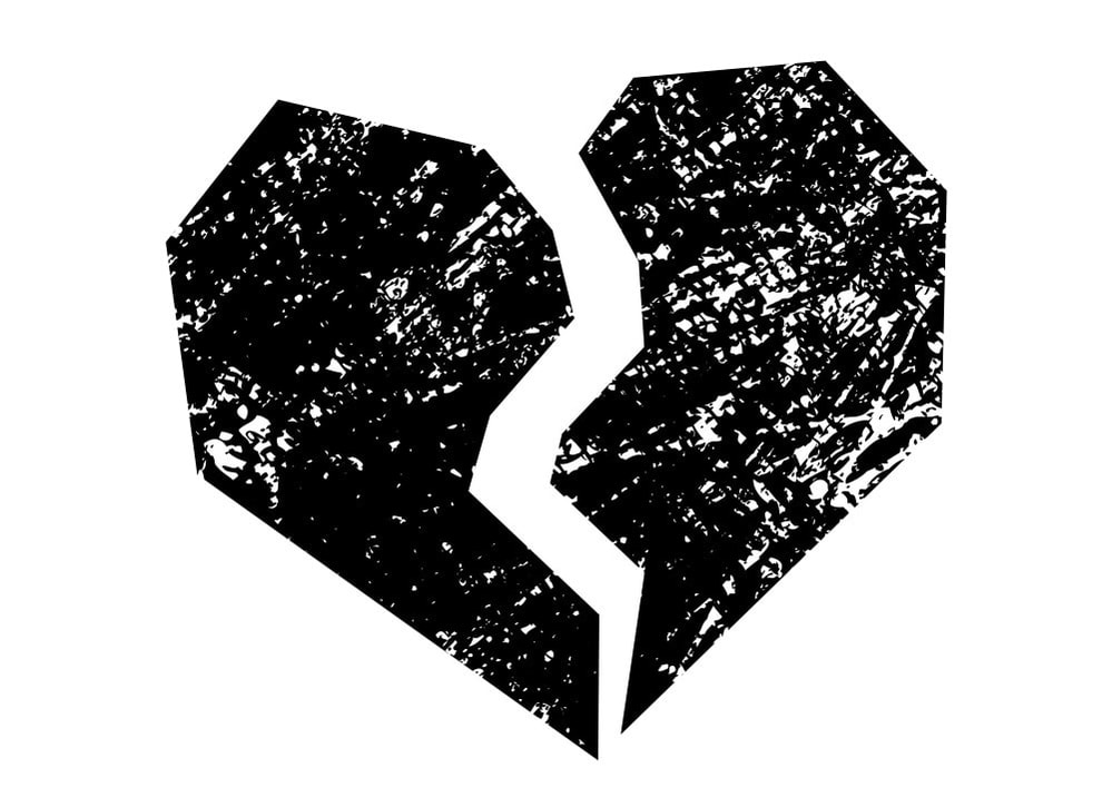 Broken Heart Logo Mark