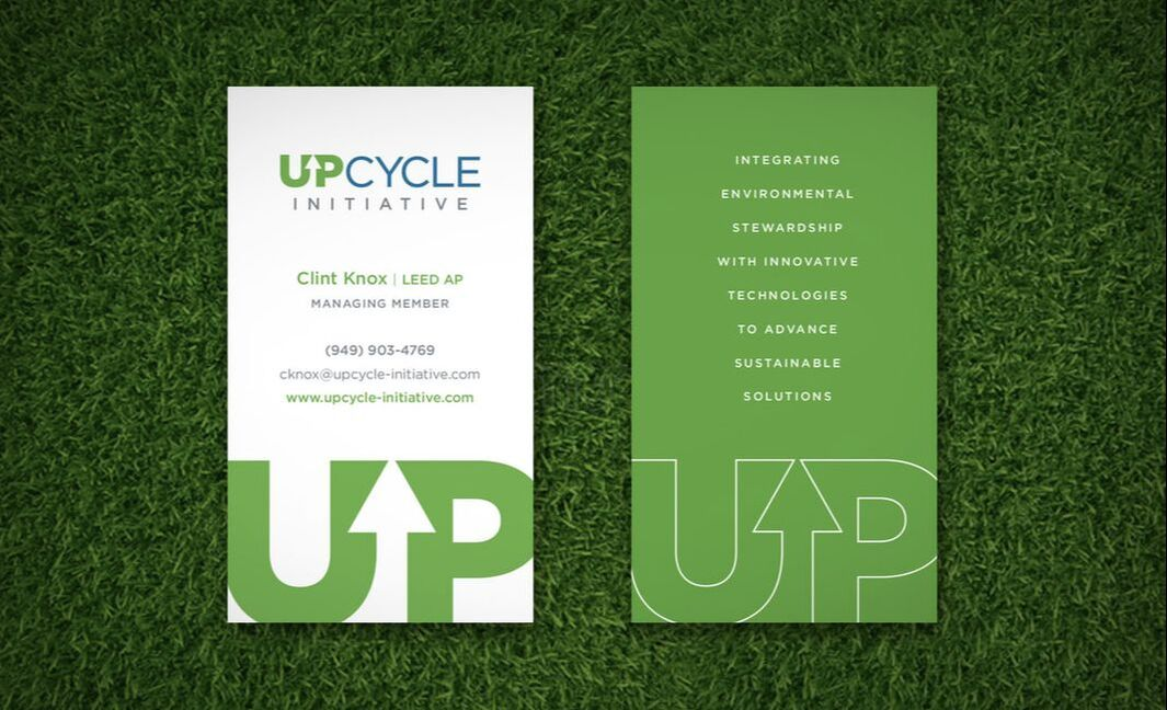 Upcycle business card