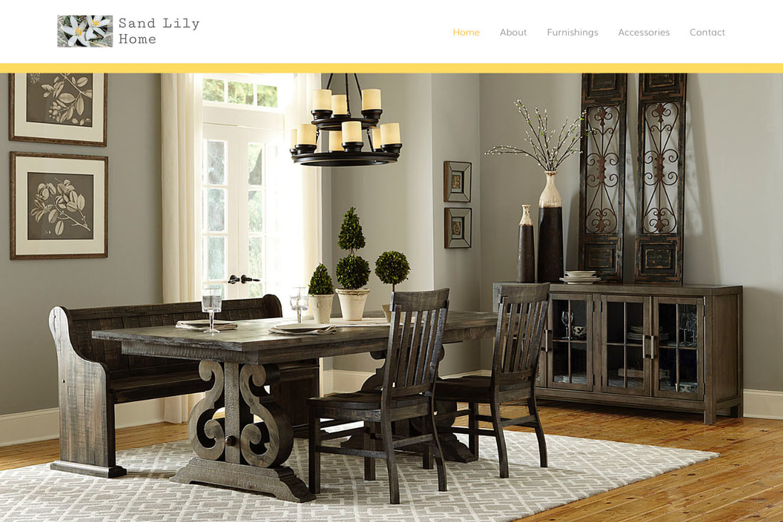 Sand Lily Home website design