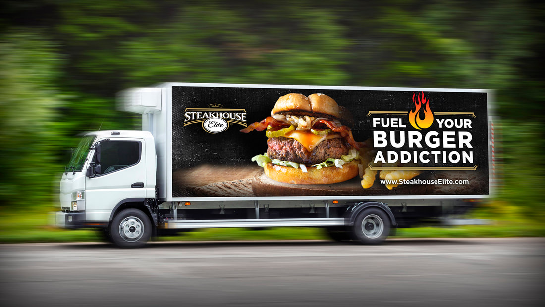 Steakhouse Elite truck wrap design
