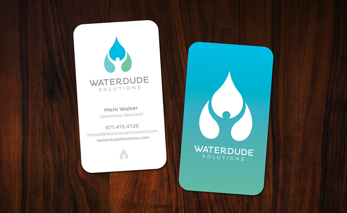 Waterdude Business Card Design